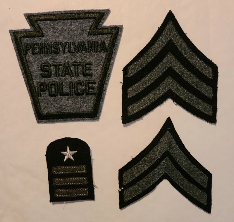 Black & Gray Color Pennsylvania State Police. Sgt., Cpl. & 16 Years of Service