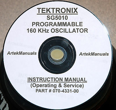 Tektronix Sg5010 Service And Ops Manual