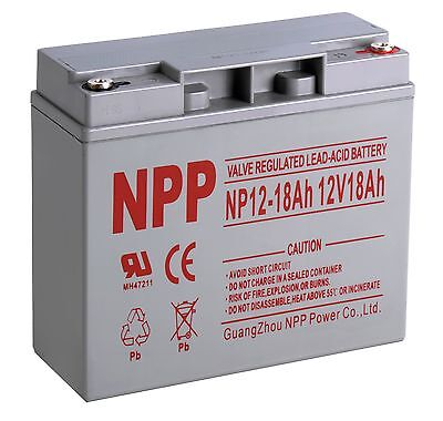 Npp 12V 18Ah Cb19 12 Sealed Lead Acid Agm Rechargeable Deep Cycle Battery