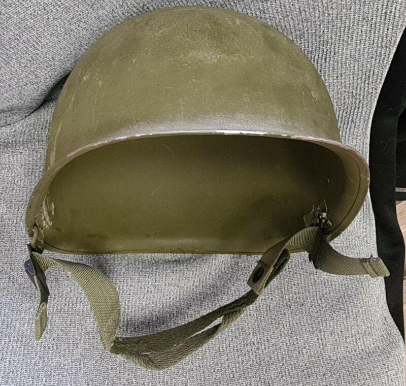 World War II US Front Seam Fixed Bale M1 Combat Helmet WWI Original