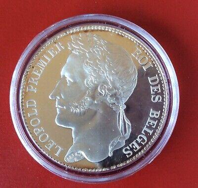 Belgique - Refrappe officielle Monnaie Royale - Rare  5 Francs  1832  - Argent