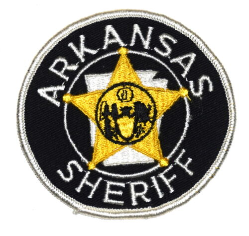 ARKANSAS AR Police Sheriff Patch STATE SHAPE OUTLINE STAR ~