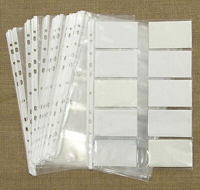 Business Card Holder Page File Sheet Album Book Organizer Office Supplies