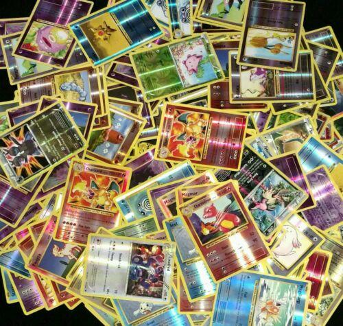 10x DIFFERENT RANDOM Pokemon cards Lot (Guaranteed Rare + Holo / Reverse holo)
