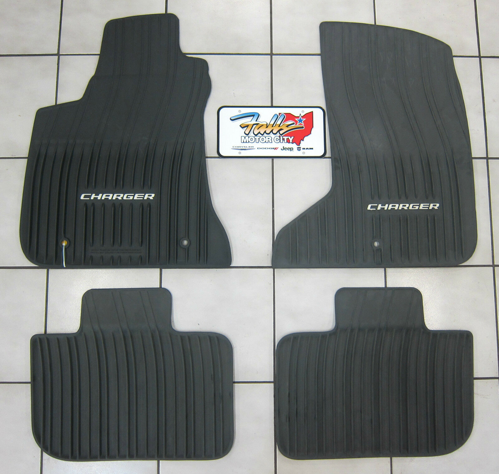 2011 2020 Dodge Charger Awd All Weather Black Rubber Slush Floor Mats Mopar Oem Ebay
