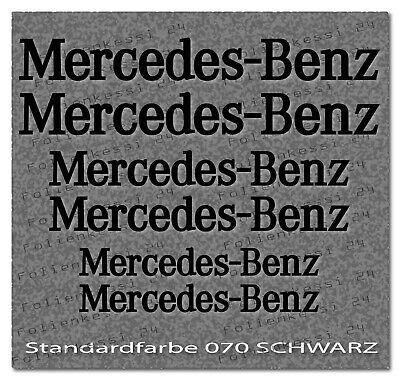 Mercedes Benz Aufkleber Set 6 tlg. 3 Größen ---30 Farben--- MB019