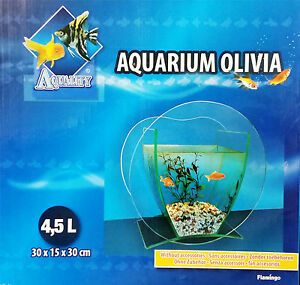 4.5L Glass Aquarium Tank Fish Bowl - Flamingo Olivia - Stylish and Fashionable