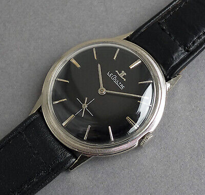 JAEGER LECOULTRE 14K Solid White Gold Vintage Watch 1949 - STUNNING