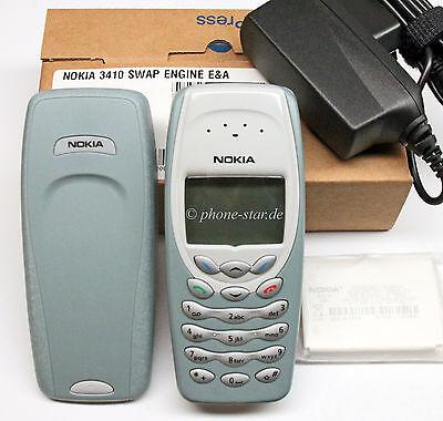 ORIGINAL NOKIA 3410 NHM-2NX HANDY RETRO MOBILE PHONE WAP SWAP NEU NEW BOX BLC-2 Original Nokia Box