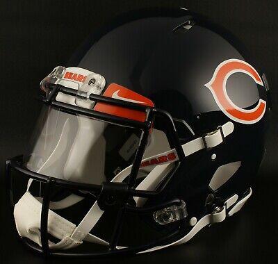 CHICAGO BEARS NFL Authentic GAMEDAY Football Helmet w/ NIKE Eye Shield Chicago Bears Nfl Eye