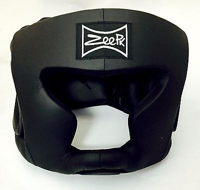 MMA Boxing Sparring Head guard Head Protector Head Gear Black M