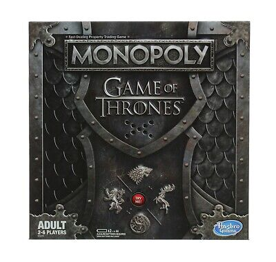 Game of Thrones Monopoly Board Game, GOT Tokens, Iron Throne Musical Card Holder