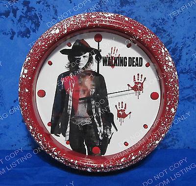 THE WALKING DEAD Custom Bloody Clock Carl Grimes Chandler Season 7 OOAK New