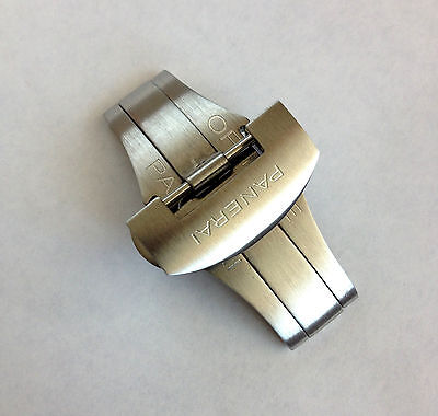 Stainless Steel Folding Clasp - AUTHENTIC PANERAI BRUSHED STAINLESS STEEL DEPLOYMENT/FOLDING CLASP, 22mm, NEW
