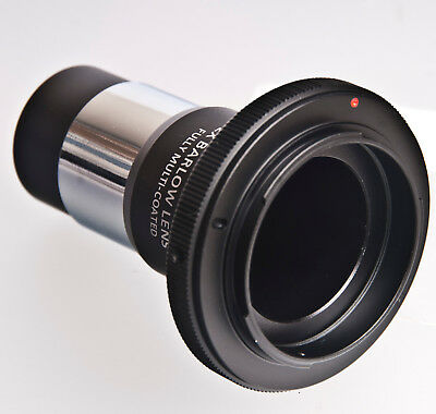 1.25 inch Barlow lens to Nikon telescope T-adapter ring Celestron Orion Levenhuk