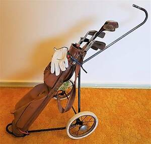 Set of 8 Golf Clubs and Buggy – Old and Used – Pick-up Only Greenwith Tea Tree Gully Area Preview