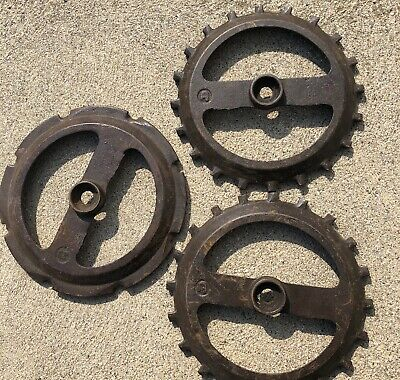 Lot Of 3 John Deere Cast Iron Seed Planter Plates Y4526b And Y2722b