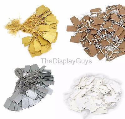 500pcs Whitesilvergoldkraft Paper Knotted Elastic String Marking Price Tag