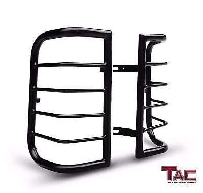 (TAC Tail Rear Light Guards Cover Protector for 2000-2004 Nissan Xterra TLG Black)