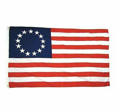 USA SELLER Polyester Flag 3x5FT American Revolution Patriotic 13 Star Décor