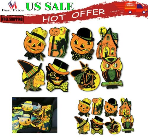 8 Vintage Retro Styled Beistle Repro Halloween Decorations Die Cut Cutouts New