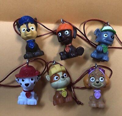 Set 6 Nickelodeon Paw Patrol Christmas Tree Ornament CHASE SKYE MARSHALL ROCKY