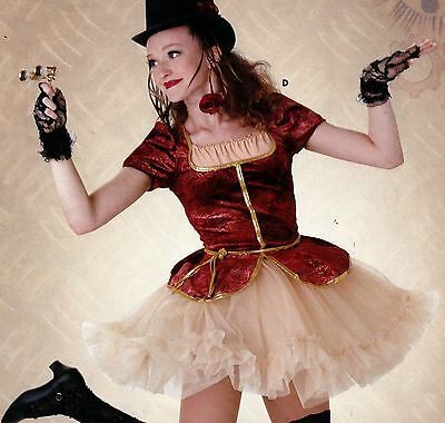 NWT Steampunk Dance Costume Old English Bustier Style w/ ruffled petticoat skirt](Old English Costume)
