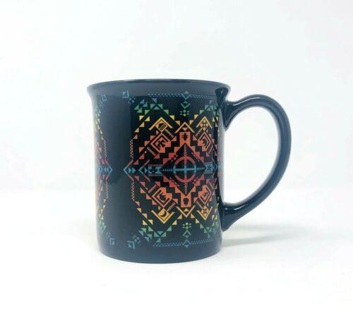 Pendleton Mills Shared Spirits Black Aztec Pattern Large Coffee Tea Mug 18 oz