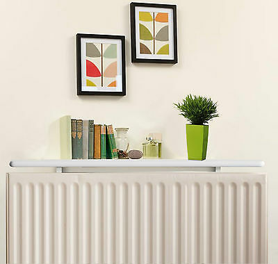 White Radiator Shelves, Including Easy Fit Brackets, Shelf sizes 60cm/90cm/120cm