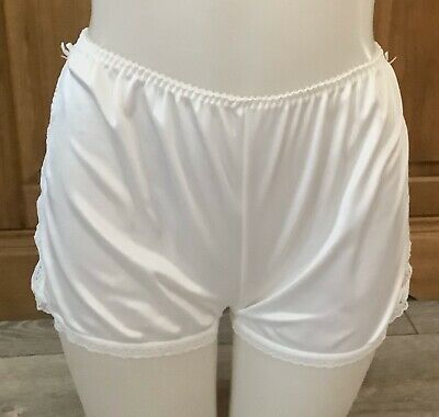 VINTAGE WHITE FRENCH KNICKERS SIZE 10