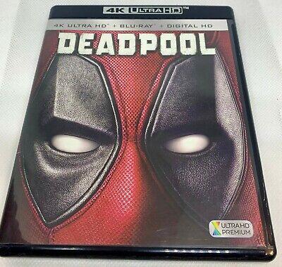 Deadpool (4K Ultra HD + Blu-ray + Digital) No Slipcover **MINT**