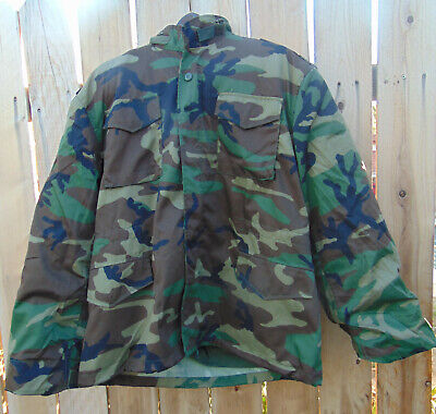 Woodland Camo XL/XXL M-65 field jacket w/hood & liner, New in packaging for sale  Shipping to India