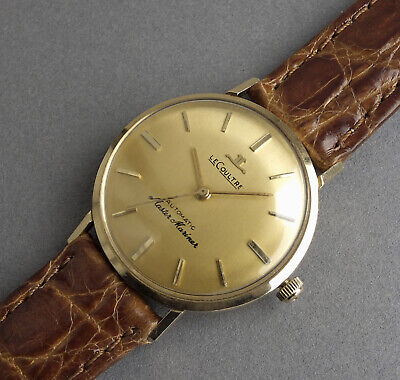 JAEGER LECOULTRE 14K SOLID GOLD MASTER MARINER Automatic Vintage Watch c1965