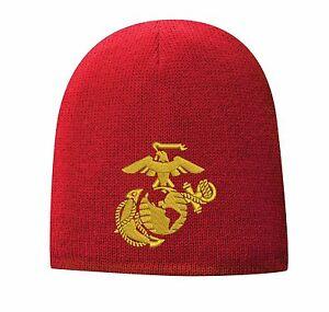 ab6c5b38d2994d USMC United States Marine Corps - EGA Eagle Globe & Anchor Beanie Cap