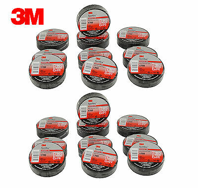 20 Pcs Black Electrical 3m Temflex Vinyl Tape 1700 34 X 60 Ft Free Shipping