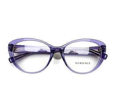 VERSACE Eyeglasses frame 3246B 5160 Transparent Violet 54-17-140 without case