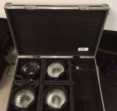 ETC Source Four Par Full Kit of 4 , Case, all Lenses, Clamps, Frames