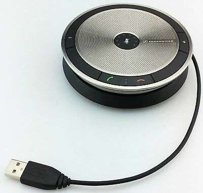 Sennheiser Sp 10 Usb Mobile Speakerphone Silver Excellent Shape