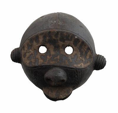 Masquette Monkey Boulou Mask Art African Terracotta Fetish Divination 6363