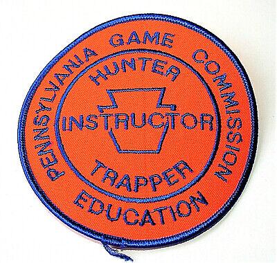 Educational Games Com (Pennsylvana Game Com Instructor Hunter Education Orange Big Patch New NOS)