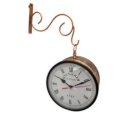 Victorian Antique Station Double Sided Railway Clock 6 Copper Finish Home Decor