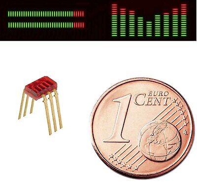 6 Pcs 5 Segment Bargraph Led Red Array Displays Al117a Gold Pins Ussr Nos