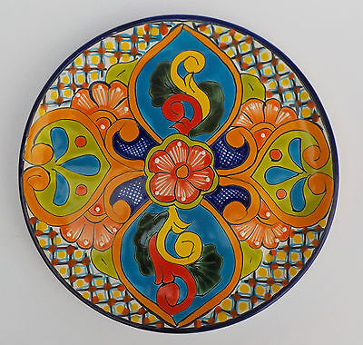 """MEXICAN POTTERY DECORATIVE WALL DECOR DINNER PLATE 11 1/2"""" DIAMETER"""