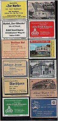 E10.659 Nordhorn, Werbeetiketten, Gasthausetiketten