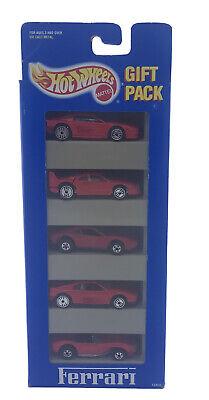 H2 1993 Hot Wheels Ferrari 5 Car Gift Pack 250 348 F40 Rare Plastic 308 UH BB