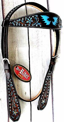 Horse Tack Bridle Western Leather Headstall  80187H ()
