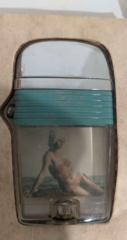 Scripto VU Vintage Lighter Pinup Girl
