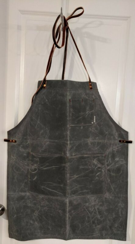 Iron & Resin Shop Welding Garage Apron - Olive