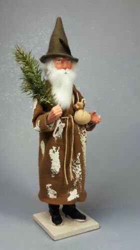 """14,5""""Paper mache*German Santa*Candy Container*by Paul Turner HNY21-021"""
