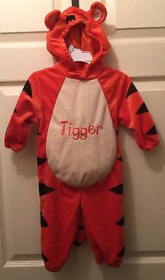 Disney Baby Plush Tigger Orange costume size 12 months Winnie the Pooh Warm